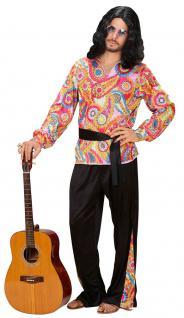 Hippie Hippie-kostüm Flower Power 60er 70er Peace Herren-Kostüm KK - Vorschau