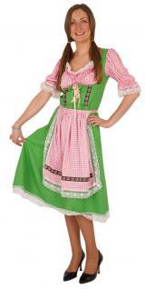 Oktoberfest Dirndl Kostüm grün Trachtenkleid Damen Bayern Dirndl Damenkostüm KK