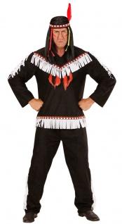 Indianer Kostüm Herren Häuptling Fasching Wilder Westen Cherokee Karneval KK