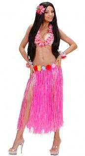 Hawaii Rock Kostüm Karibik Bastrock rosa lang Damenkostüm Karneval Sommerparty