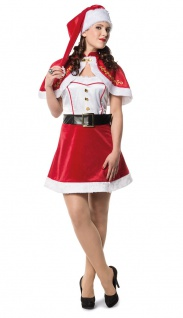 Nikolaus Kostüm Damen mit Umhang KK - Vorschau