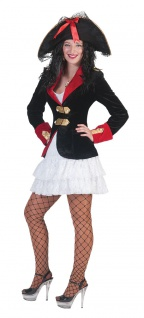 Piraten Kostüm Piratenbraut Damen Piratenjacke mit Kleid KK