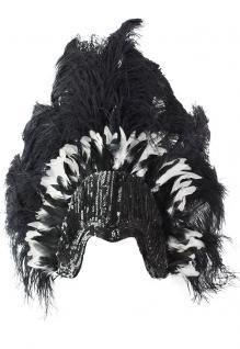Indianer Feder Kopfschmuck Indianer-Feder-n Stirnband Feder-Schmuck schwarz weiß