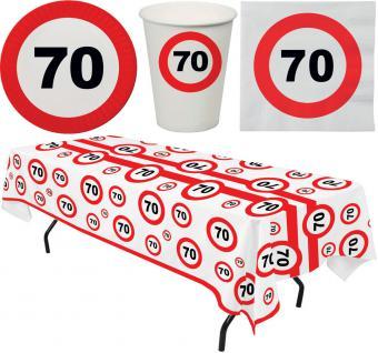 Party Set 33 Teile Geburtstag 70 Jahre Verkehrsschild
