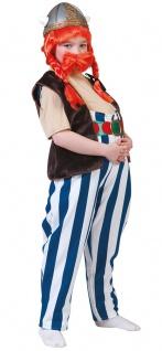 Gallier Kostüm Kinder Maxi Hose Kinderkostüm Wikinger Fasching Karneval KK