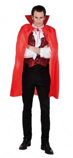 Vampir Umhang Herren rot Vampir Herrenkostüm Halloween KK