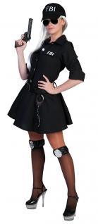 Karneval Klamotten Kostüm FBI Agent Dame Karneval Polizei Damenkostüm