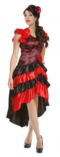 Karneval Klamotten Kostüm Spanierin Flamenco Dame Karneval Spanien Damenkostüm