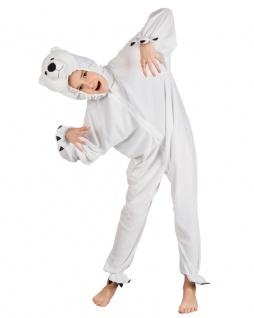 Eisbär Kostüm Kinder Polarbär Bär Plüsch Tierkostüm Kinderkostüm Karneval KK