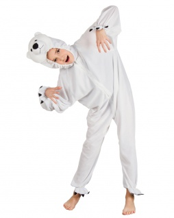 Eisbär Kostüm Plüsch Polar Bär Tierkostüm Kinderkostüm Fasching Karneval KK