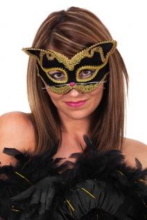 Maske Katze Augenmaske schwarz Venzeianische Maske Maskenball Fasching Karneval
