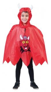 Teufel Kostüm Klein-Kinder Lucifer Satan Cape Umhang Kinderkostüm Halloween KK