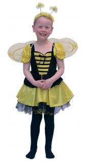 Biene Kostüm Kinder Bienchen Kinder-Kostüm Biene Kleid Flügel Biene Haarreif KK