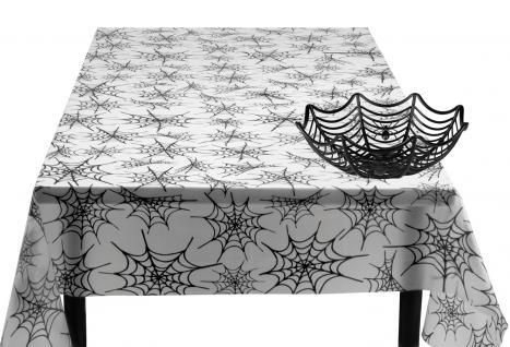 Tischdeko Party Set Halloween Spinnennetz 2 Teile : Tischdecke, Korb