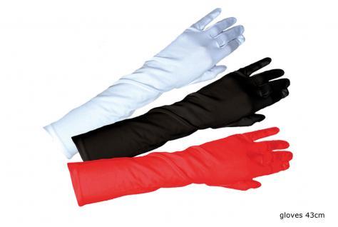 Satin-Handschuhe lang glänzend Luxus rot Charleston Damen-Kostüm Karneval KK