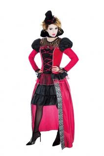 Gothic Vampir Lady Damen Kostüm Vampirin Vampiress Horror Halloween Fasching KK