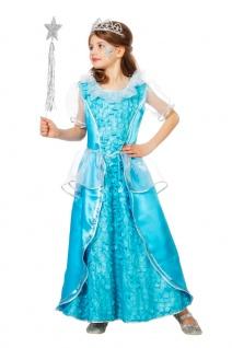 Eiskönigin Kostüm Schneekönigin Mädchen-Kostüm Eisprinzessin Kleid Karneval KK