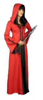 Karneval Klamotten Kostüm Kleid rote Ritterdame Fasching Karneval Damenkostüm