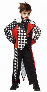 Pierrot Kostüm Jungen Clown schwarz weiß rot KK