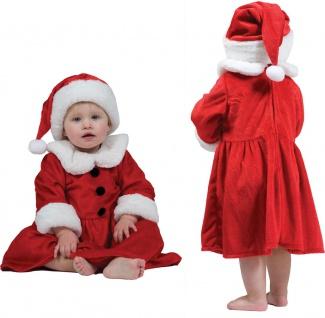 Weihnachtsmann Kostüm Baby Klein-Kinder Nikolaus Weihnachtskleid Weihnachten KK