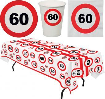 Party Set 33 Teile Geburtstag 60 Jahre Verkehrsschild