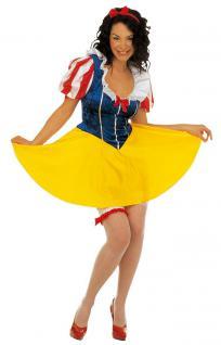 Schneewittchen-Kostüm Damen Märchen Kostüm Cinderella mit Haarschleife Karneval