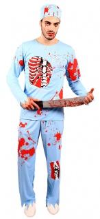 blutiges Doktor Herren Horror-Kostüm mit Blut Zombie Arzt Halloween-Kostüm KK