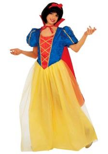 Schneewittchen-Kostüm Kinder Kleid Märchen-Prinzessin Umhang Haarschleife KK