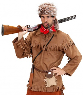 Trapper Kostüm Herren Pelztier-Jäger Herrenkostüm Western Fasching Karneval KK
