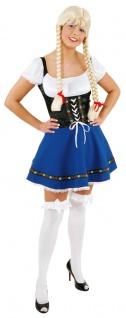 Oktoberfest Dirndl Kostüm Kleid blauschwarz Trachtenkleid Damen Dirndl Tirol KK