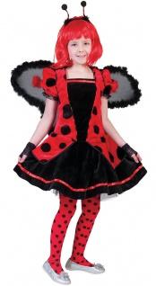 Marienkäfer Kostüm Kinder Glückskäfer Kleid Mädchen-Kostüm Fasching Karneval KK