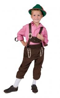 Oktoberfest Lederhose Junge Kostüm Tiroler Marcus Bayernhose Trachten Kinder KK