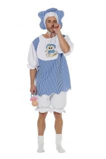 Erwachsenen Baby Kostüm Herren blau Riesenbaby Herrenkostüm Karneval Fasching KK