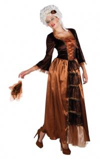 Barock Rokoko Kleid Kostüm Damen braun-schwarz Renaissance Damenkostüm KK