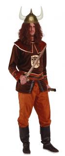 Viking Kostum Wikinger Herrenkostum Nordmann Braun Gold Karneval