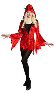 Teufel Kostüm Damen Teufelin Teufelskostüm Halloween sexy Teufel Damenkostüm KK