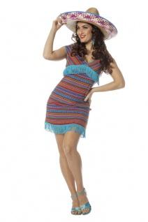 Mexikanerin Kostüm Damen Mexiko bunt Mexikanisches Damenkostüm Karneval Fasching