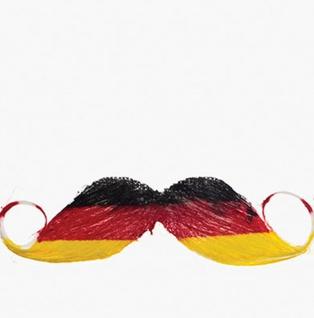 Fußball Fan-Artikel Schnurrbart Deutschland schwarz-rot-gold EM WM 2021 KK