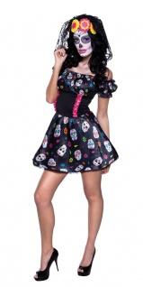 Tag der Toten Kostüm Damen Kostüm Dia de Los Muertos Kostüm Halloween KK