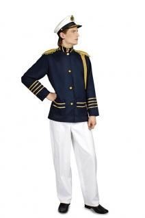 Marine Matrose Kostüm Herren Kapitän Uniform Kapitänsjacke Karneval Fasching KK