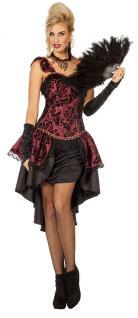 Damen Kostüm Kleid Corsage Burlesque Can rWCxQedoEB
