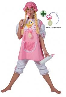 Baby Kostüm Damen Baby Damen-Kostüm Erwachsene rosa-weiß Riesen-Schnuller KK
