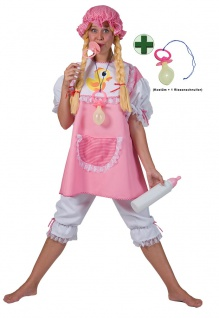 Baby Kostüm Damen rosa Schnuller Erwachsene Fasching Karneval Damenkostüm KK