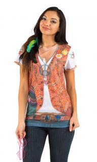 Hippie-Tshirt Hippie-kostüm Flower Power 60er 70er Jahre Damen-Kostüm KK