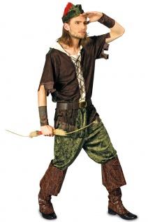Robin Hood Kostüm Heren Prince of Thieves Erwachene Karneval Herrenkostüm KK