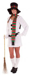 Schneemann Kostüm Erwachsene Schneefrau Hut Schal Olaf Damen Fasching Karneval K