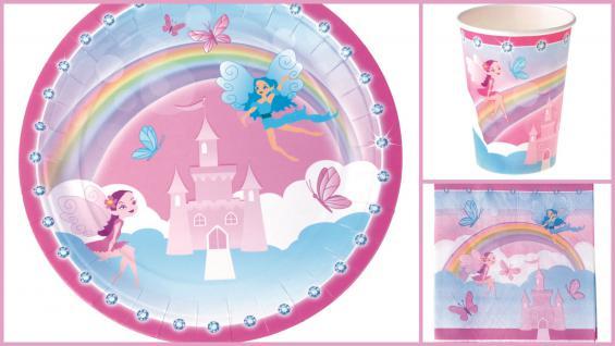 Set Kindergeburtstag Fee Prinzessin 36 Teile rosa blau