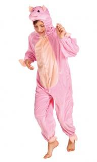 Schwein-Kostüm Kinder Plüsch Schwein-Overall Tier Schweinchen Kinderkostüm KK