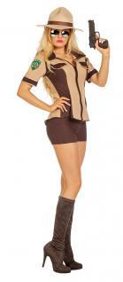 Kostüm Sexy Sheriff Dame US Polizistin Western Country Girl Damenkostüm KK