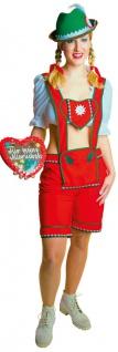 Oktoberfest Lederhose Rot Damen Kostüm Tirolerin Bayernhose Trachten Damen KK